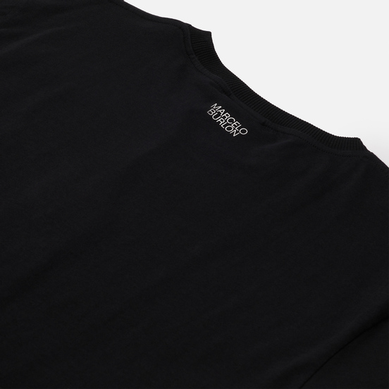Мужская футболка Marcelo Burlon Cross Basic Neck Black/White