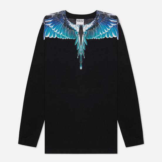 Мужской лонгслив Marcelo Burlon Wings Basic Black/Turquoise