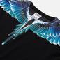 Мужской лонгслив Marcelo Burlon Wings Basic Black/Turquoise фото - 1