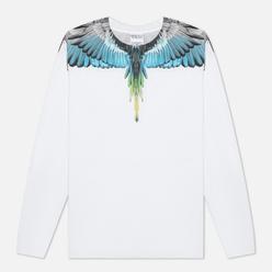Мужской лонгслив Marcelo Burlon Wings Regular White/Light Blue