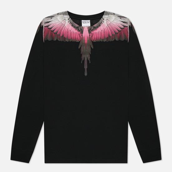 Мужской лонгслив Marcelo Burlon Wings Regular Black/Fuchsia