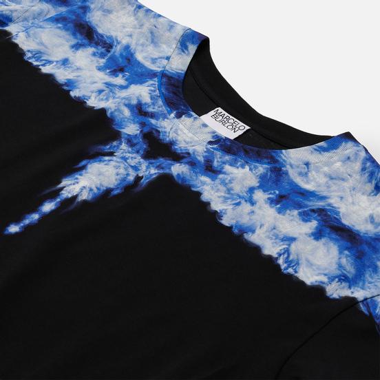 Мужской лонгслив Marcelo Burlon Smoke Wings Regular Black/DustyBlue