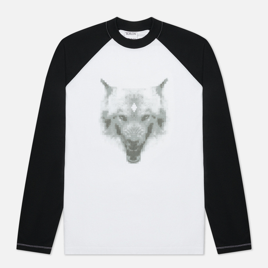 Мужской лонгслив Marcelo Burlon Cross Wolf Baseball White/Grey