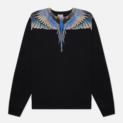 Мужская толстовка Marcelo Burlon Wings Regular Crewneck Black/Pink