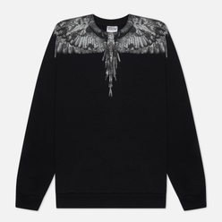 Мужская толстовка Marcelo Burlon Camou Wings Regular Crewneck Black/Dark Grey