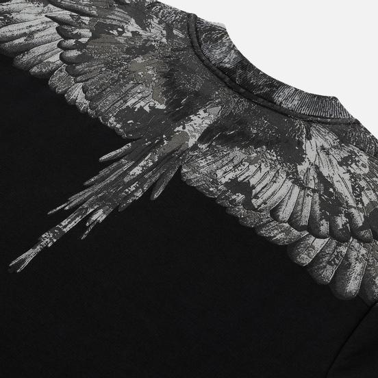 Мужская толстовка Marcelo Burlon Camou Wings Regular Crewneck Black/Dark Grey