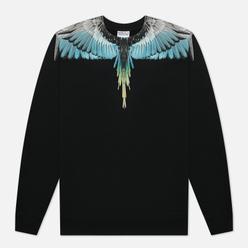 Мужская толстовка Marcelo Burlon Wings Regular Crewneck Black/Light Blue