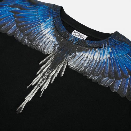 Мужская толстовка Marcelo Burlon Wings Regular Crewneck Black/Blue