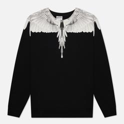 Мужская толстовка Marcelo Burlon Wings Regular Crewneck Black/White