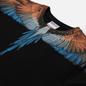 Мужская толстовка Marcelo Burlon Wings Regular Crewneck Black/Orange фото - 1