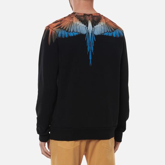 Мужская толстовка Marcelo Burlon Wings Regular Crewneck Black/Orange