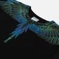 Мужская толстовка Marcelo Burlon Wings Regular Crewneck Black/Blue Neon фото - 1
