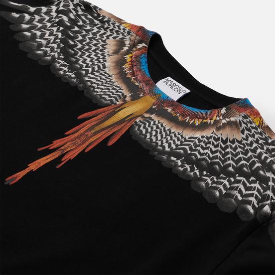 Мужская толстовка Marcelo Burlon Grizzly Wings Regular Crewneck Black/Orange