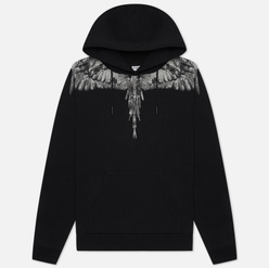 Мужская толстовка Marcelo Burlon Camou Wings Regular Hoodie Black/Dark Grey