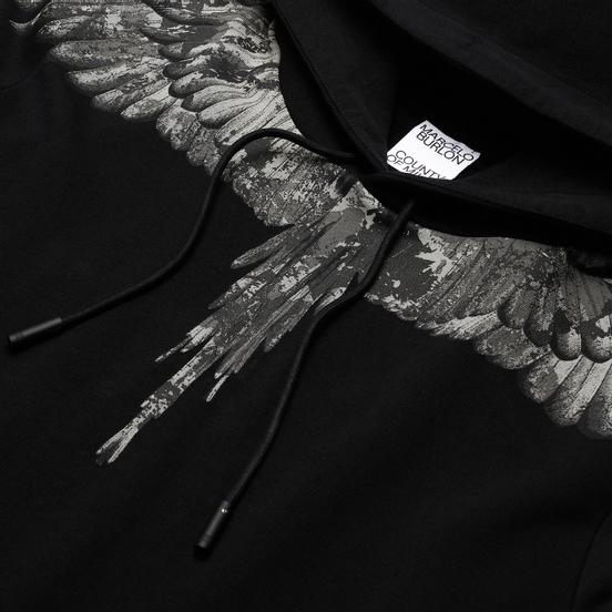 Мужская толстовка Marcelo Burlon Camou Wings Regular Hoodie Black/Dark Grey