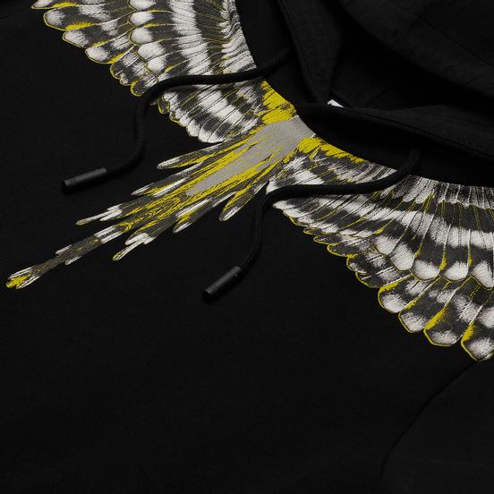 Мужская толстовка Marcelo Burlon Birds Wings Regular Hoodie Black/Grey