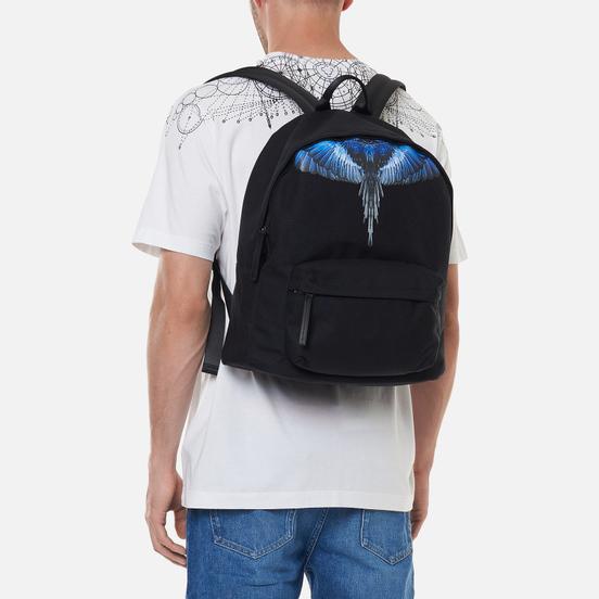 Рюкзак Marcelo Burlon Wings Black/Blue