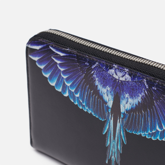 Кошелек Marcelo Burlon Wings Continental Black/Turquoise