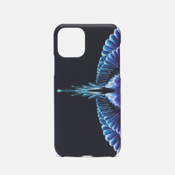 Чехол Marcelo Burlon Wings iPhone 11 Pro Black/Turquoise