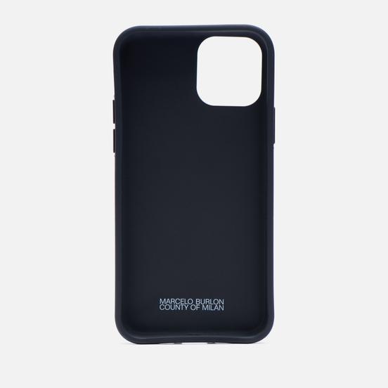 Чехол Marcelo Burlon Wings iPhone 11 Pro Black/Light Blue