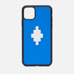 Чехол Marcelo Burlon 3D Cross iPhone 11 Pro Max Blue/White