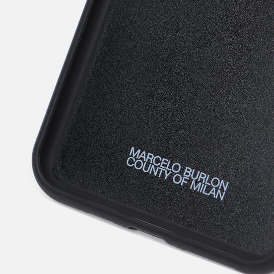 Чехол Marcelo Burlon 3D Cross iPhone 11 Pro Max Blue/White