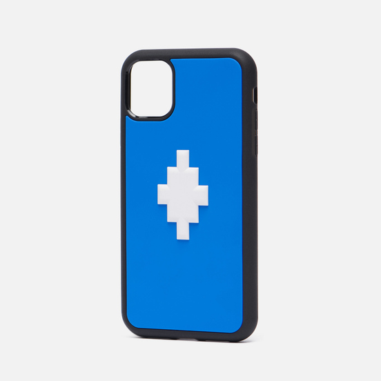Чехол Marcelo Burlon 3D Cross iPhone 11 Blue/White