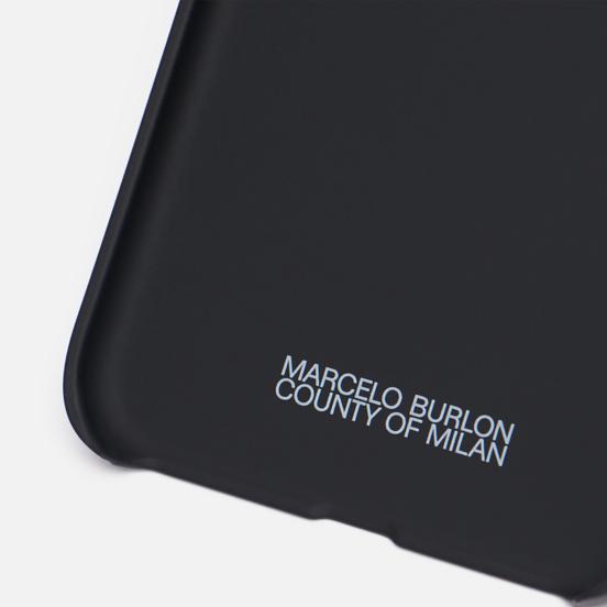 Чехол Marcelo Burlon All Over Faces iPhone 11 Black/Rainbow