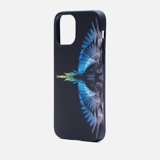 Чехол Marcelo Burlon Wings iPhone 12/12 Pro Black/Light Blue