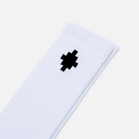 Носки Marcelo Burlon Cross Sideway Midhigh White/Black