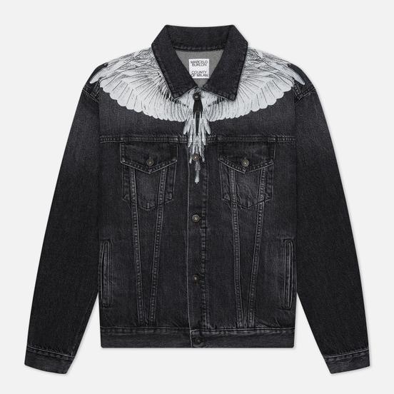Мужская джинсовая куртка Marcelo Burlon Wings Stonewash Slim Denim Black/White