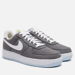 Кроссовки Nike Air Force 1 07 Recycled Canvas Iron Grey/White/Barely Volt