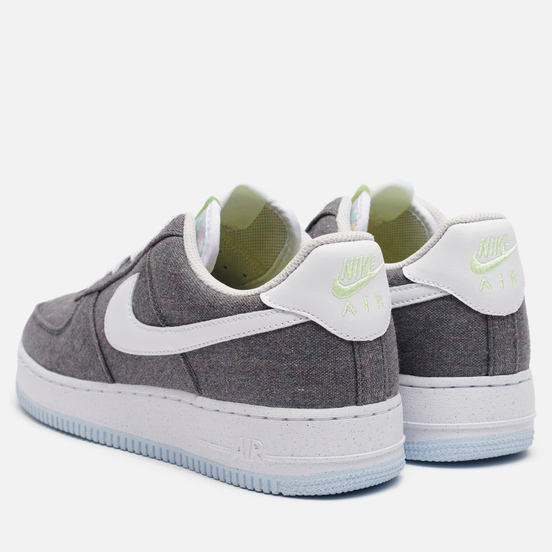 Мужские кроссовки Nike Air Force 1 07 Recycled Canvas Iron Grey/White/Barely Volt