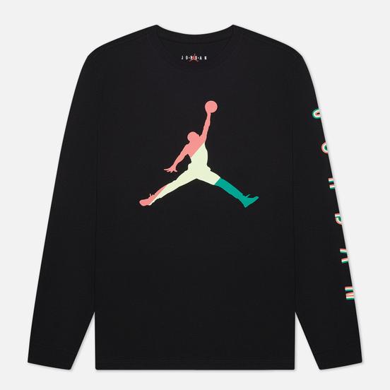 Мужской лонгслив Jordan Sport DNA Crew Black/Hot Punch/Barely Volt