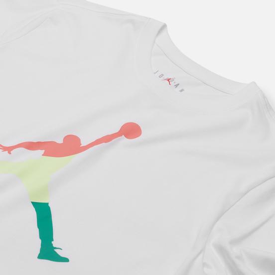 Мужской лонгслив Jordan Sport DNA Crew White/Hot Punch/Barely Volt