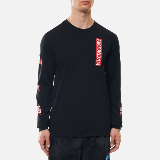 Мужской лонгслив Jordan Jumpman Classics Crew Black/Gym Red/White