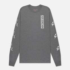 Мужской лонгслив Jordan Jumpman Classics Crew Carbon Heather/White/Black