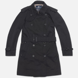 Aquascutum Corby Double Breasted Men`s Trench Coat Black photo- 0
