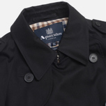 Aquascutum Corby Double Breasted Men`s Trench Coat Black photo- 1