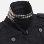 Aquascutum Corby Double Breasted Men`s Trench Coat Black photo- 3
