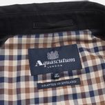 Aquascutum Corby Double Breasted Men`s Trench Coat Black photo- 6