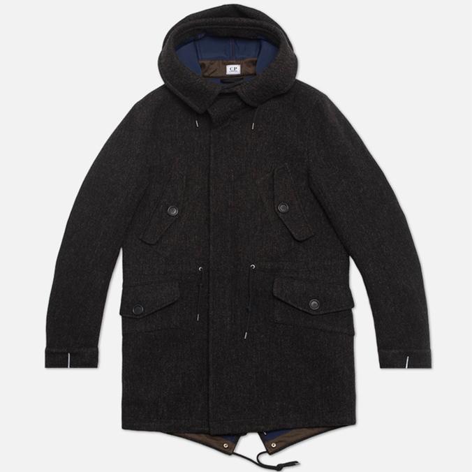 Пальто C.P. Company Shetland Bonded Fishtail Parka Brown