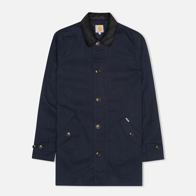 Мужской плащ Carhartt WIP Martin Twill Duke Blue/Black Rigid