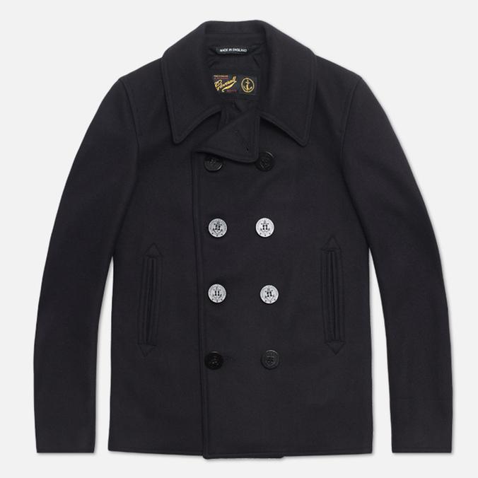 Мужское пальто Gloverall Big Button Reefer Navy