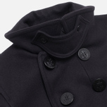 Gloverall Big Button Reefer Coat Navy photo- 2
