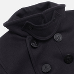 Мужское пальто Gloverall Big Button Reefer Navy фото- 2