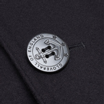 Gloverall Big Button Reefer Coat Navy photo- 4