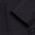 Gloverall Big Button Reefer Coat Navy photo- 3