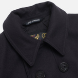 Gloverall Big Button Reefer Coat Navy photo- 1