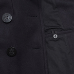 Gloverall Big Button Reefer Coat Navy photo- 5